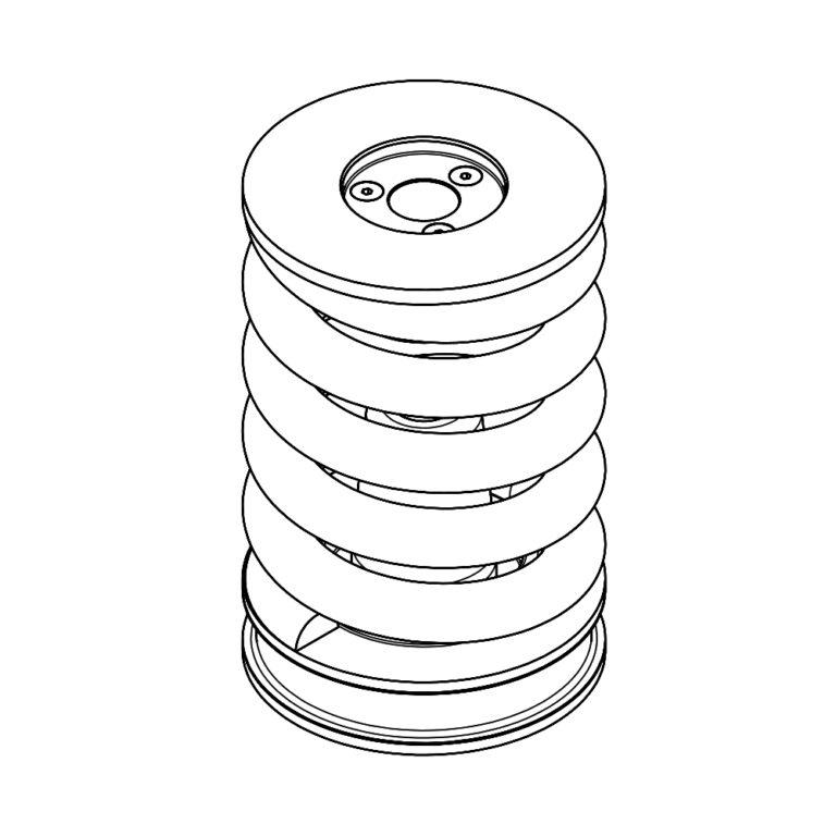 Sprężyny gumowo – metalowe II stopnia sprężynowania